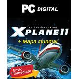 X Plane 11 Xplane Pc Español + Mapa Mundial / Digital