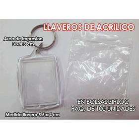 Llaveros De Acrilico, En Bolsas Ziploc $ 5.00