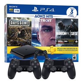 Playstation 4 Slim 1tb 3 Juegos Ps Plus 2 Joysticks Macrotec