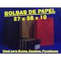 Bolsas De Papel - 27x38x10 Cms. - 100 Unidades Imperdible