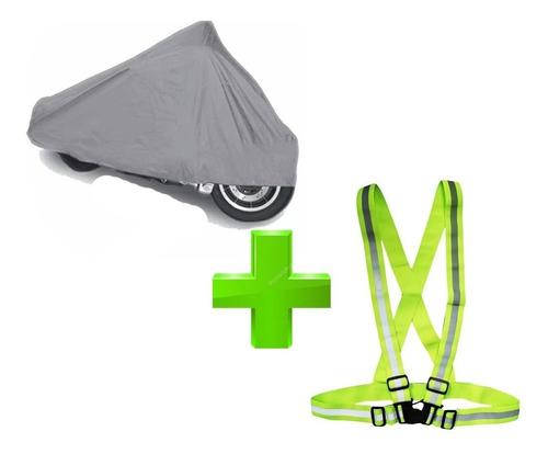 956649f43d7 Funda Impermeable Cubre Moto + Chaleco Cinta Reflectiva ®