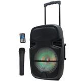 Parlante 300 W Activo Luces Bluetooth Microfono Control Rem.