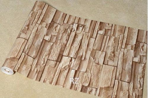 Film o papel adhesivo para empapelar paredes simil piedra for Papel de pared precio