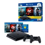 Ps4 1tb + Bundle 3 Juegos + 2 Control Playstation Originales