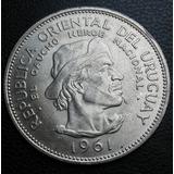 Mg* Uruguay Gaucho Moneda De Plata $10 1961 Excelente Estado