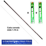 Kit De Pesca Caña Telescopica 4 Metros + 2 Lineas Prontas