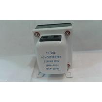 Transformador 220 V 110 V 200 W Con Llave Nuevo Y En Caja