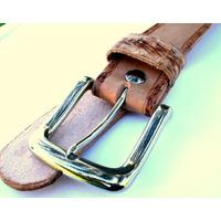 Cinturon Artesanal En Cuero Con Dibujos O Liso. A Tu Medida