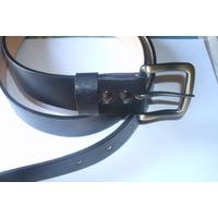 Cinturon En Cuero 100% Cuero Negro A Tu Medida