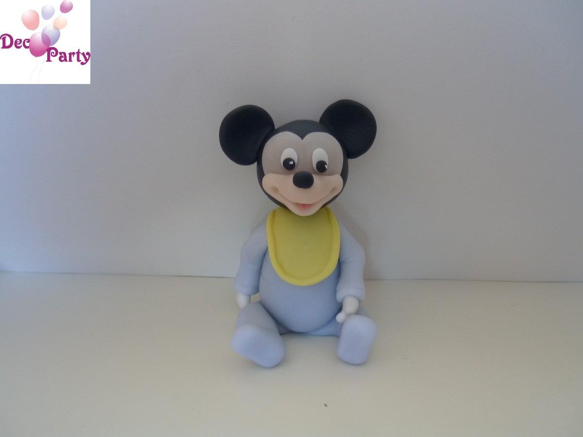 Adorno Torta O Souvenirs En Porcelana Fría. Mickey Bebe. - $ 350 ...