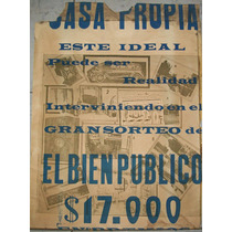 Afiches antiguos publicidad sorteos diario el bien publico for Sanitarios bellavista modelos antiguos