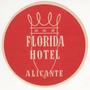 Luggage Antiguo Sticker De Hotel Florida De Alicante España