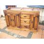 Mueble Bajo Mesada Macizo 3 Ptas Y 3 Cajones Con Hierro