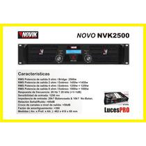 Potencia Amplificador Novik Neo Nvk2500 Audio Profesional