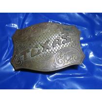 Hebilla De Los Antiguos Cowboys Grabada