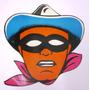 Antiguo Juguete Careta Disfraz Carnaval Llanero Solitario
