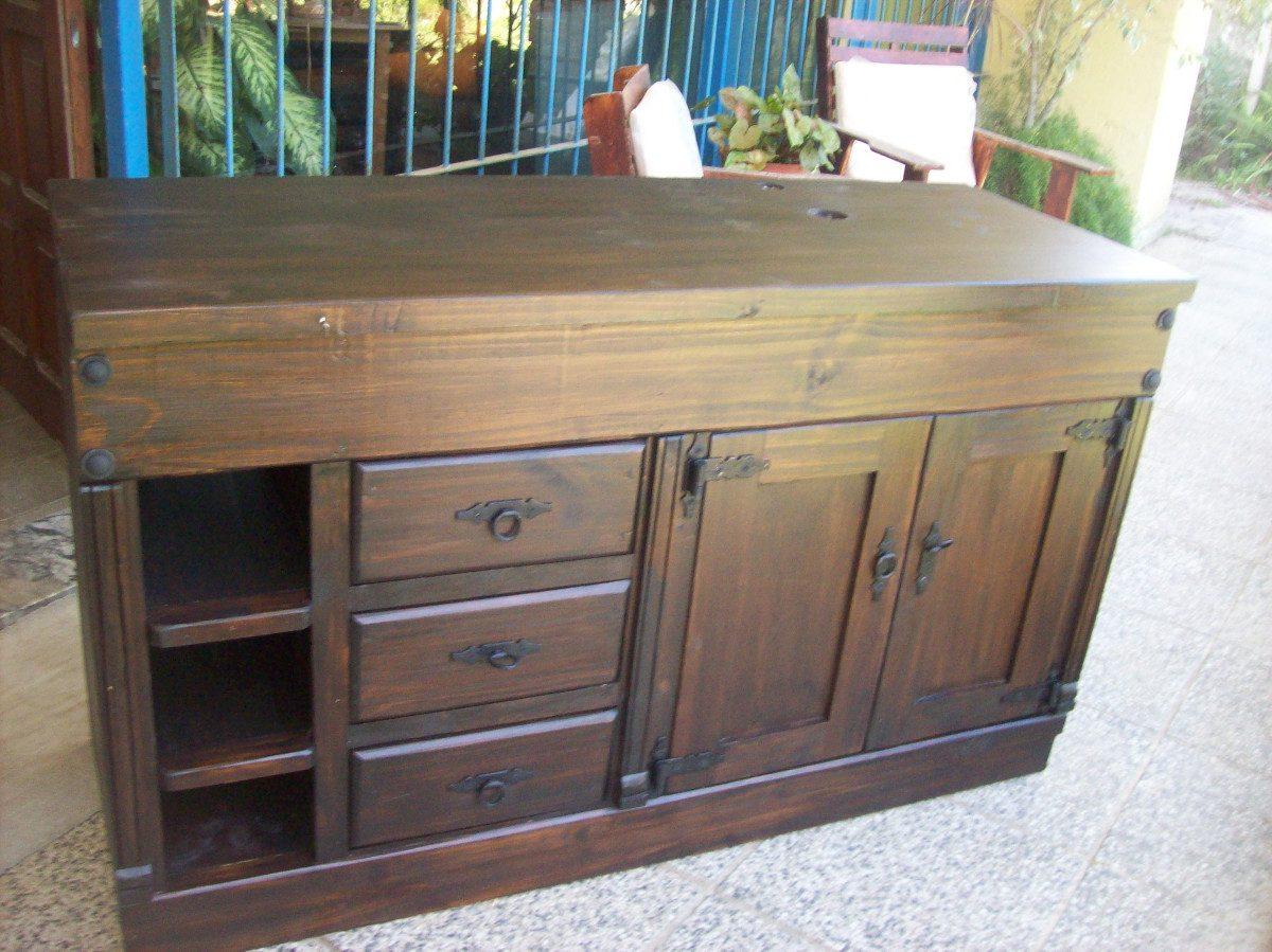 Muebles de cocina de madera rusticos for Muebles cocina rusticos madera