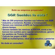 Programa De Sueldos Y Remuneraciones ( Irpf Bps Fonasa Etc)