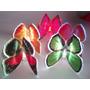 Mariposa Luminosa En Pecera,centro,15, Bodas,adorno $ 170