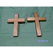 Cruces En Madera Artesanal En Cedro