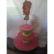 Frutillita. Bases Para Cupcakes O Souvenirs, Centros De Mesa