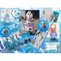 Cumpleaños Frozen. Centro De Mesa. Decoración.