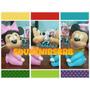 Mickey Y Minnie Bebés! Para Torta, Baby Shower, Cumpleaños!