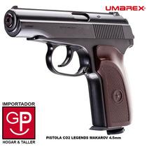 Pistola Co2 Legends Makarov Full Metal 4.5mm