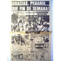 Diario El Diario Año 1983 Peñarol Gracias Peñarol