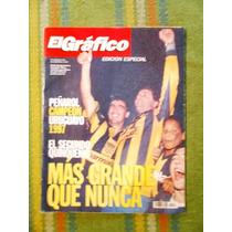 Revista El Gráfico Fútbol Peñarol Campeón Uruguayo 1997.