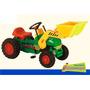 Tractor A Pedal Con Pala - Vehículos Niños Remolque