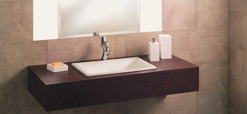 Bachas Para Baño Con Griferia:Bachas De Loza En Blanco /piletas Para Baño Incepa Embutir – U$S 89