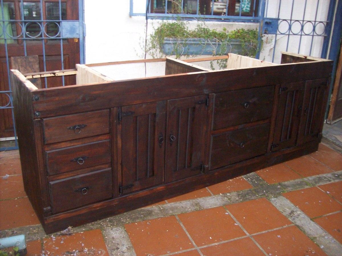 Cortinas para cocina y bajo mesada for Mesada de madera para cocina