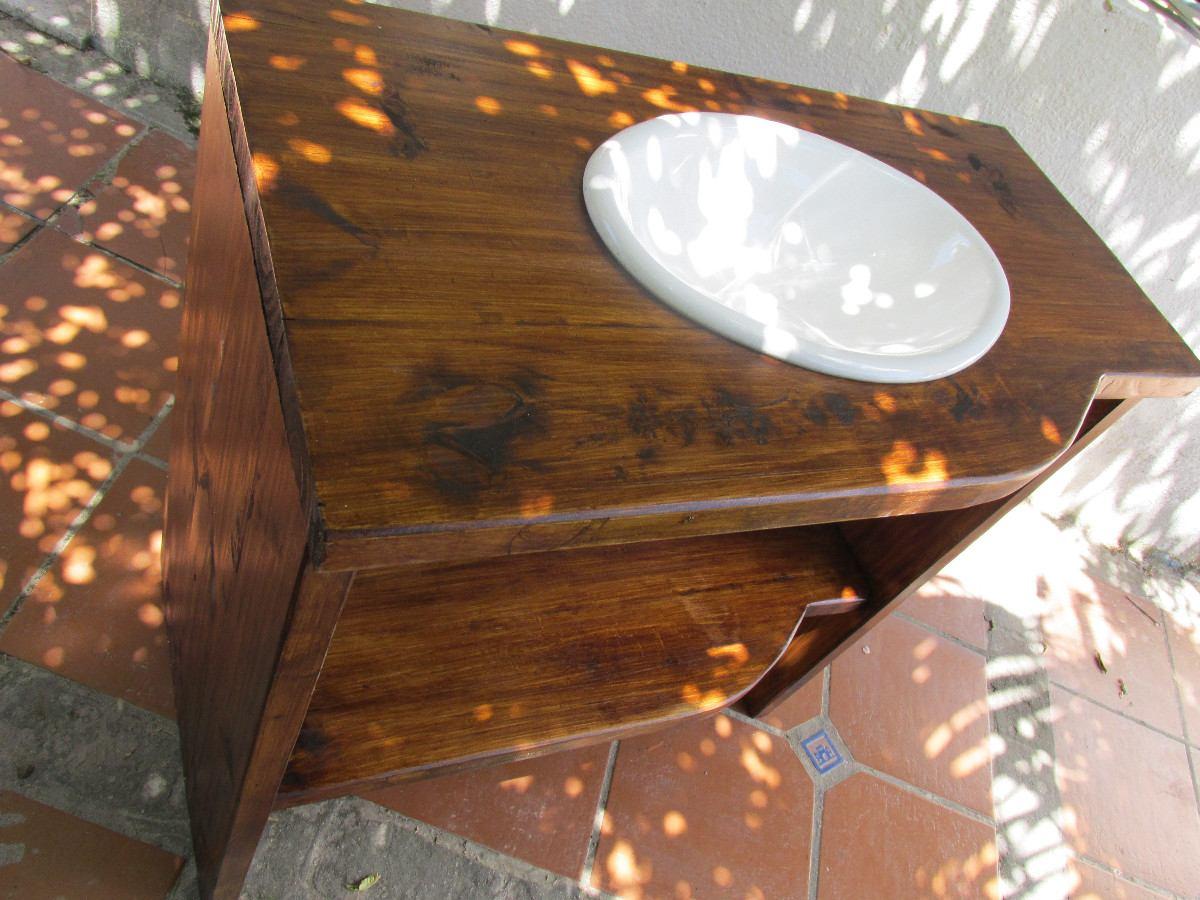 Baños Rusticos Madera:Bajo Mesada De Baño Madera Maciza Rustico Sin Bacha – $ 5500,00 en