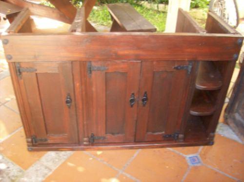 Puertas De Baño Rusticas:Bajo Mesada De Baño Rustica Puertas Y Estantes – $ 6900,00 en