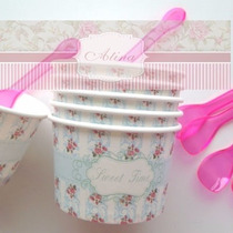 Set Moldes Cupcakes Muffins Chaby Chic Celeste X6us Atina Uy