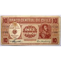 Chile 10 Pesos - 1960 - Conmemorativo Club De Leones