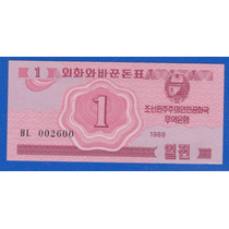 Fv * Billete - Corea Del Norte 1988 - 1 Chon Unc