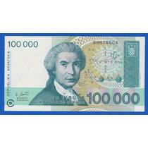 Fv * Billete - Croacia 1993 - 100.000 Dinara Unc