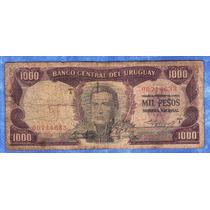 Fv * Billete - Uruguay 1967 - Rotondaro* 1000 Pesos #9a1.2.1