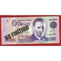 Fv * Billete - Uruguay 1989 * N$ 1.000 # 28 A Tinta Verde
