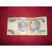 Billete Antiguo N$1000 Pesos Uruguayo