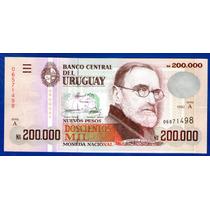 Fv * Billete Uruguay 1992 - N$ 200.000 Rotondaro #35a Unc