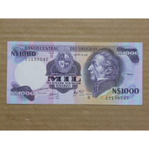 Billete Uruguay 1980 - N$ 1.000 Nuevos Pesos Serie B Unc
