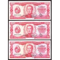 Uruguay 3 Billetes Correlativos 7 A 7.2
