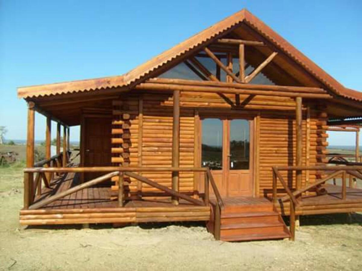 Caba as madera frente 1 2 tronco estilo ingl s deck - Fotos de bungalows de madera ...