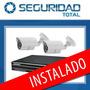 Kit De Seguridad Instalado Dvr 4ch+2 Camaras+dis320gb/cuotas