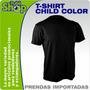 T-shirt Niño- Color- Camiseta Por Mayor- Bordar- Estampar