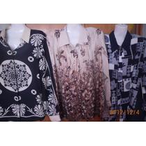 Camisas Xl De Seda Importadas,blusas Dama Estampadas Nuevas