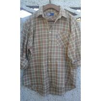 Camisa Escosesa Uniform Talle L Algodon Impecable!!